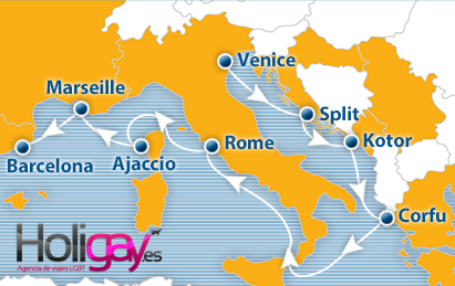 Itinerario Venecia Barcelona